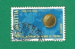 SUISSE 1954 N° 547 COUPE DU MONDE FOOTBALL EN SUISSE 1954 /  40 C.  OBLITÉRÉ - 1954 – Zwitserland