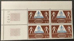 N° 2027 Neuf ** Gomme D'Origine, Bloc De 4  TTB - Unused Stamps