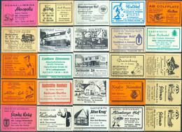 25 Alte Gasthausetiketten Aus Deutschland Sortiert Nach Alter Postleitzahl: 4710-4935 #290 - Matchbox Labels