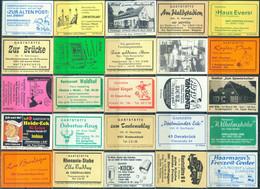 25 Alte Gasthausetiketten Aus Deutschland Sortiert Nach Alter Postleitzahl: 4200-4650 #291 - Matchbox Labels