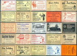 25 Alte Gasthausetiketten Aus Deutschland Sortiert Nach Alter Postleitzahl: 4618-4700 #292 - Matchbox Labels