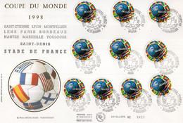 France.enveloppe Coupe Du Monde 98 - 1990-1999