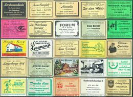 25 Alte Gasthausetiketten Aus Deutschland Sortiert Nach Alter Postleitzahl: 4700-4794 #293 - Matchbox Labels