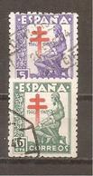 España/Spain-(usado) - Edifil  1008-09- Yvert 757-58 (o) - 1931-50 Afgestempeld