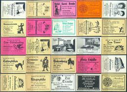 25 Alte Gasthausetiketten Aus Deutschland Sortiert Nach Alter Postleitzahl: 4791-4815 #294 - Matchbox Labels