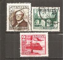 España/Spain-(usado) - Edifil  1037-39 - Yvert  779-80-Aéreo-238 (o) - 1931-50 Usados
