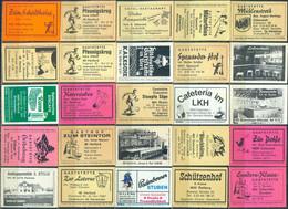 25 Alte Gasthausetiketten Aus Deutschland Sortiert Nach Alter Postleitzahl: 4830-4900 #295 - Matchbox Labels