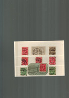 Luxembourg Différents Timbres Du Grand Duc Adolphe Oblitérés Avec Cachets à Pont Et Barres - 1895 Adolphe Profil
