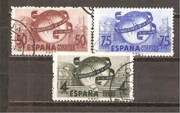 España/Spain-(usado) - Edifil  1063-65 - Yvert  795-96, Aéreo-240 (o) - 1931-50 Usados