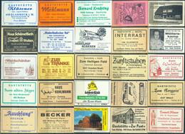 25 Alte Gasthausetiketten Aus Deutschland Sortiert Nach Alter Postleitzahl: 4300-4500 #296 - Matchbox Labels