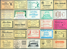 25 Alte Gasthausetiketten Aus Deutschland Sortiert Nach Alter Postleitzahl: 4618-4712 #297 - Matchbox Labels