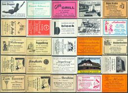 25 Alte Gasthausetiketten Aus Deutschland Sortiert Nach Alter Postleitzahl: 4750-4816 #298 - Matchbox Labels