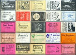 25 Alte Gasthausetiketten Aus Deutschland Sortiert Nach Alter Postleitzahl: 4300-4500 #299 - Matchbox Labels