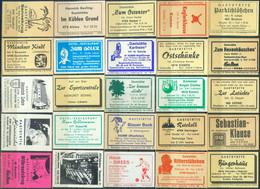 25 Alte Gasthausetiketten Aus Deutschland Sortiert Nach Alter Postleitzahl: 4618-4800 #300 - Matchbox Labels