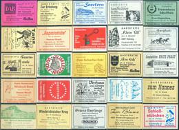 25 Alte Gasthausetiketten Aus Deutschland Sortiert Nach Alter Postleitzahl: 4300-4900 #303 - Matchbox Labels