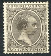 Ed 222* 1889 Alfonso XIII Pelón 30 Cts Verde Bronce En Nuevo - Nuevos