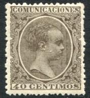 Ed 223* 1889 Alfonso XIII Pelón 40 Cts Castaño En Nuevo - Nuevos