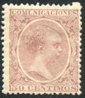 Ed 224* 1889 Alfonso XIII Pelón 50 Cts Rosa En Nuevo - Nuevos