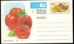 SOUTH AFRICA (1982) Nectarine. Cornucopia. 15c Airmail Postal Card. - Autres
