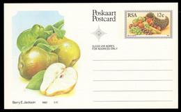 SOUTH AFRICA (1982) Pears. Cornucopia. 12c Postal Card. - Autres