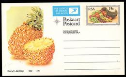 SOUTH AFRICA (1982) Pineapple. Cornucopia. 15c Airmail Postal Card. - Autres
