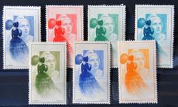 France 1949 - Marianne De Gandon / Mazelin - Centenaire Du Timbre Français - La Femme à L'ombrelle - Lot De 7 Timbres - 1945-54 Marianne Of Gandon