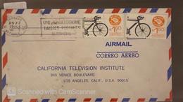 O) 1977 MEXICO, MEXICO EXPORTA BICYCLE, USE AND COLLECT OLIMPICOS POSTCARDS CANCELLATION LOGO, FROM MONTERREY   TO USA - Mexico