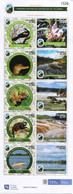 Lote 2020-23P, Colombia, 2020, Pliego, Sheet, Natural Park, VI Issue, Dolphin, Bird, Crocodile, Dance, River, Flower - Colombia