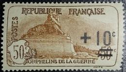 France Y&T N°167 Le Lion De Belfort +10 50Cc.+50c Brun. Neuf* MH - TB. Centage... - Unused Stamps