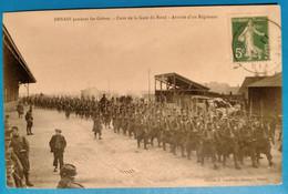 Carte Postale Ancienne  - Denain Pendant Les Grèves -cour De La Gare Du Nord- Arrivée D'un Régiment - Mines