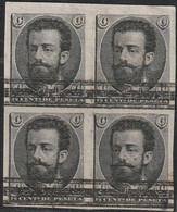 1872 . (*) AMADEO I. PRUEBA DE PROYECTO NO ADOPTADO, SIN DENTAR, BARRADA. (Gálvez 844) - Ongebruikt