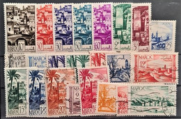 MAROC 1947/49 - MLH/canceled - 23 Timbres Diverses - Usati
