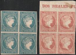1857. ** Edifil: ANTILLAS 7(4), 9(4). ISABEL II. - Cuba (1874-1898)
