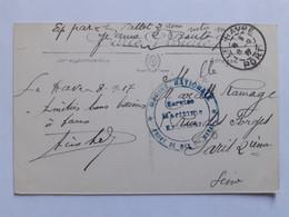 Cachet Marine Nationale Front De Mer Du Havre + Cachet Le Havre Port Sur CPA -  08-09-1917 - Guerra Del 1914-18