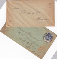 ALLEMAGNE 1897 LETTRE AVEC TIMBRES 20 Pfg BLEU PRUSSE SERIE AIGLE IMPERIAL - Storia Postale