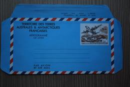 T.A.A.F. - 1993 - Aérogramme - Inauguration De La Piste De Terre Adélie - Entier Avec Timbre Poste Aérienne - Entiers Postaux