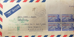 O) 1948 SPANISH GUINEA, INVENTOR AUTOGIRO JUAN DE LA CIERVA, GOLFO DE GUINEA OVERPRINTE,FIRST DIRECT AIR MAIL FROM GUINE - Guinea Spagnola
