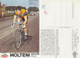 CARTE CYCLISME MARINO BASSO SIGNEE TEAM MOLTENI 1970 ( DECOUPE, FORMAT 10 X 14,5 VOIR PHOTO ) - Cycling
