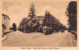 """1887""""ABANO TERME (PADOVA) VIALE DELLE TERME E VIALE MAZZINI""""ANIMATA TRAM ANNI 1951 Cartolina Originale - Padova (Padua)"""
