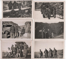 Photo Originale Lot De 10 Militaria WWII 1939 Chasseurs Alpins La TOUR Sur TINEE Camp De Villard Camion Caillol - Oorlog, Militair