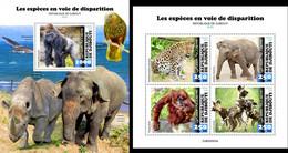 Djibouti 2020, Animals In Danger, Elephants, 4val In BF +BF - Elefanten