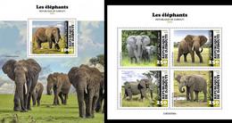 Djibouti 2020, Animals, Elephants, 4val In BF +BF - Elefanten