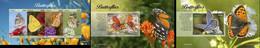 Liberia 2020, Animals, Butterflies, 4val In BF +2BF - Schmetterlinge
