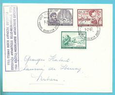 1391/3 Op Brief Expédition Antarctique Belgo-néerlandaise Base Roi Baudoin Antartica Koning Boudewijn Basis - Lettres & Documents
