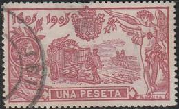 1905. º Edifil: 264. III CENTENARIO DEL QUIJOTE - Gebruikt