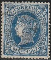 1867. º Edifil: CUBA 19. ISABEL II - Cuba (1874-1898)