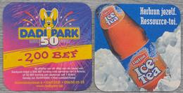 Sous-bock Lipton Ice Tea Dadi Park1950 2000 Dadizele (parc D'attractions Lapin) Bierviltje (CX) - Bierviltjes
