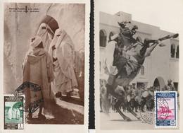 1953-TARJETAS MAXIMAS-Edifil: MARRUECOS 387, 393. Dos Tarjetas. SIN CIRCULAR - Spanish Morocco
