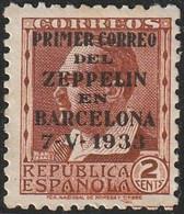 1933. ** Edifil: 662. PERSONAJES. Habilitado PRIMER CORREO DEL ZAPPELIN EN BARCELONA. RARO! - 1931-50 Ongebruikt