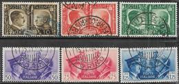 Italy  1941    Sc#413-8  Rome-Berlin Axis Set  Used    2016  Scott Value  $23.65 - Oblitérés